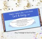 Personalised Fathers Day Milk Chocolate Bar - Super Dad N33